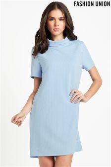 Fashion Union Funnel Neck Dress