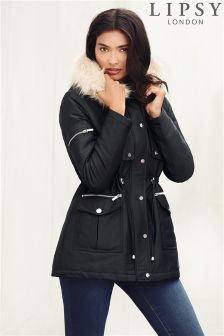 Lipsy Faux Fur Hooded Parka