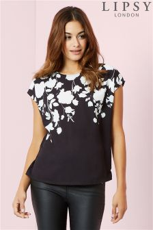 Lipsy Short Sleeve Printed Top