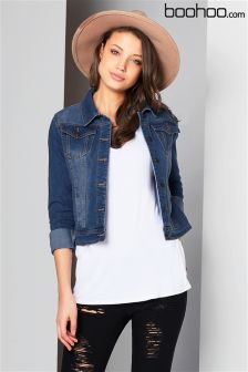 Boohoo Cropped Denim Jacket