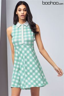Boohoo Sleeveless Polo Dress