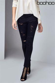 Boohoo Ripped Super Skinny Jeans