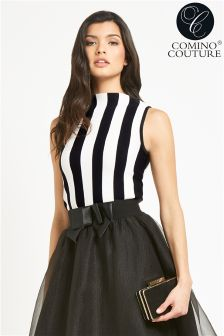 Comino Couture Striped Knitted Top