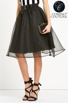 Comino Couture Bow Embellilshed Skirt