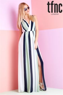 tfnc Stripe Maxi Dress