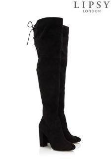 Lipsy Corset Over Knee Boots