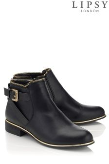 Lipsy Buckle Flat Ankle Boots