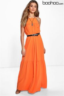 Boohoo Crepe Maxi Dress