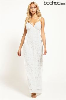 Boohoo Burn Out Maxi Dress