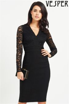 Vesper Lace Top Bodycon Dress