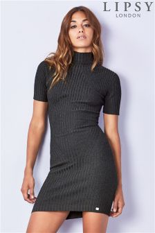 Lipsy Travelling Rib Knit Dress