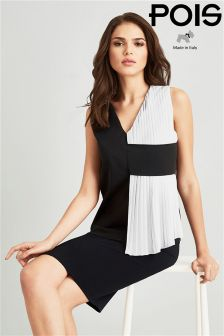 Pois V Neck Sleeveless Top