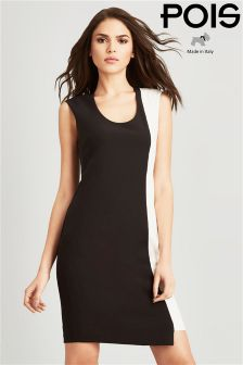 Pois Asymmetric Pencil Dress