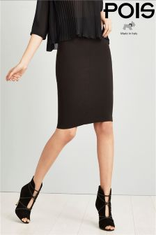 Pois High Waist Pencil Skirt
