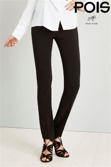 Pois Push-up Effect Tailored Trousers In Stretch Crepe