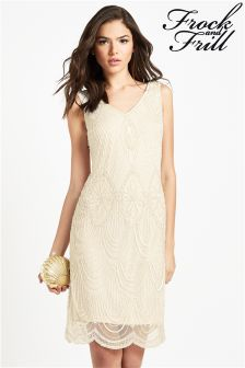 Frock And Frill Embellished Shift Dress