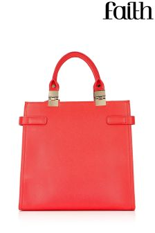 Faith Bags Metal Hinge Structured Tote
