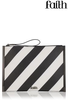 Faith Textured Fold Over Clutch