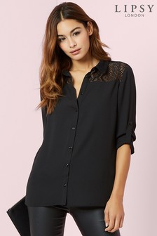 Womens Black Shirts & Blouses | Next UK