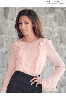 Lipsy Love Michelle Keegan Ruffle Blouse