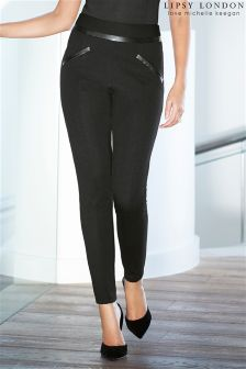 Lipsy Love Michelle Keegan PU Trim Leggings