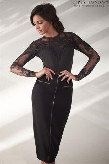 Lipsy Love Michelle Keegan Pu Zip Through Skirt