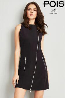 POIS Zipper Detail Bodycon Dress