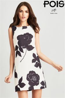 POIS Print Jacquard A Line Dress