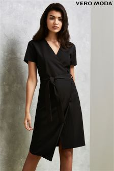 Vero Moda Tie Up Wrap Dress