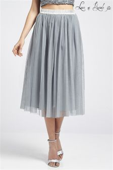 Lace & Beads Chiffon Skirt