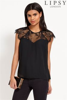 Lipsy Lace Sweetheart Tee