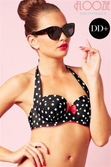 Floozie Polka Dot Sling Bikini Top