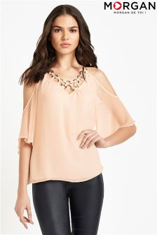 Morgan Cold Shoulder Top