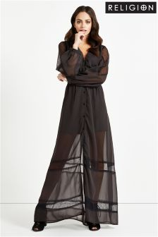 Religion V Neck Maxi Dress