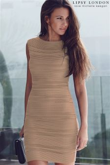 Lipsy Love Michelle Keegan Ripple Bodycon Dress