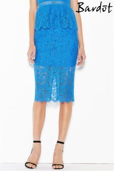 Bardot Lace Midi Skirt