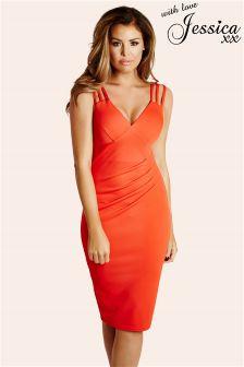 Jessica Wright Esra Pleated Midi Dress