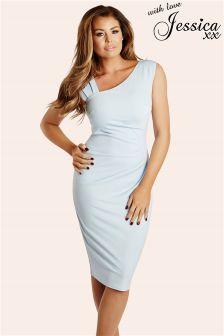 Jessica Wright Toni Pleated Bodycon Dress