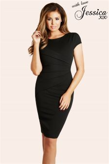 Jessica Wright Vicky Pleated Midi Dress