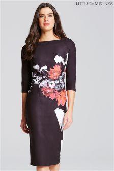 Little Mistress Rose Print Bodycon Dress