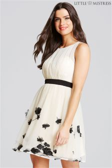 Little Mistress Petal Applique Mini Dress
