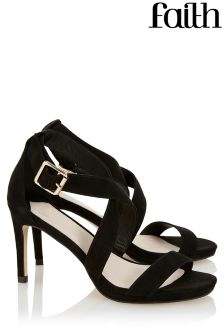 Faith Buckle Heeled Sandals