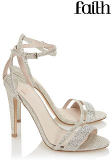Faith Two Part Shimmer Sandals