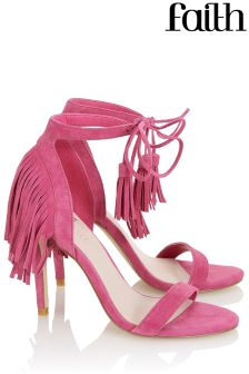 Faith Fringed Sandal Heels