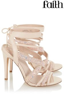 Faith Glitter Strappy Sandals