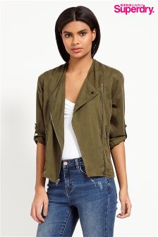 Superdry Collarless Biker Bomber Jacket