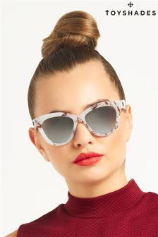 Toy Shades Marble Cat Eye Sunglasses