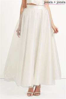 Jones + Jones Maxi Length Tulle Skirt
