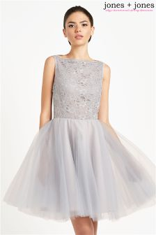 Jones + Jones Scallop Neck Ballerina Dress