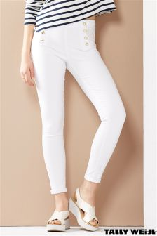 Tally Weijl High Waisted Button Up Skinny Jean
